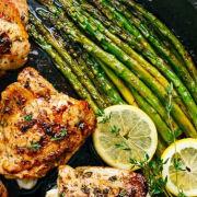 Chicken Asparagus with Lemon Garlic Butter