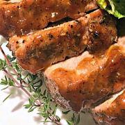 Peach Glazed Pork Tenderloin