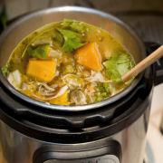 Butternut Squash Green Chile Chicken Soup