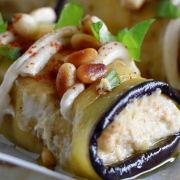 Roasted Eggplant Rolls