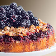Blackberry Almond Upside Down Cake