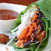 Asian Carrot Chicken Wraps