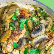 Mediterranean Chicken with Mushrooms
