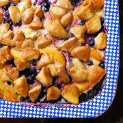 Blueberry Peach Cream Cheese Bake
